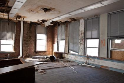 The interior of a future apartment prior to renovation.