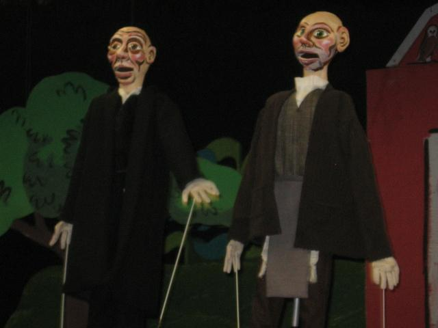 Waiting for Hanukkah to be saved in Paul Mesner Puppets' 'Herschel and the Hanukkah Goblins.'