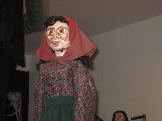One of the villagers in 'Herschel and the Hanukkah Goblins' at Jewish Community Center.