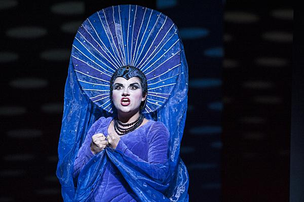 In 'The Magic Flute' a comic tale of love buffeted by the forces of good and evil. Kathryn Lewek, plays the Queen of the Night.