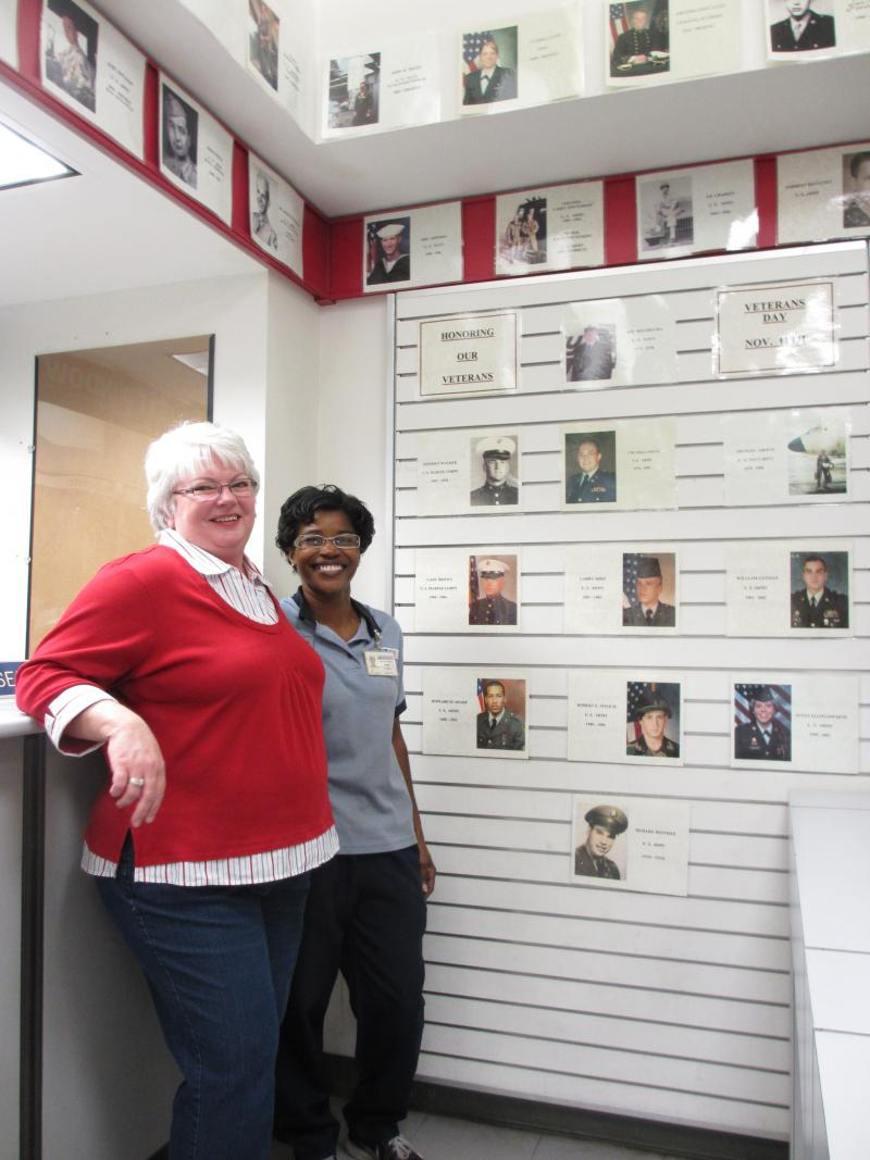 Shirley Worley and Vivian Pearson have spearheaded the project to put veterans' pictures on display.