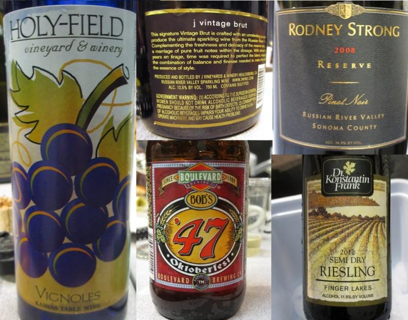 Doug Frost offered five wine and beer recommendations to pair with Thanksgiving dinner.