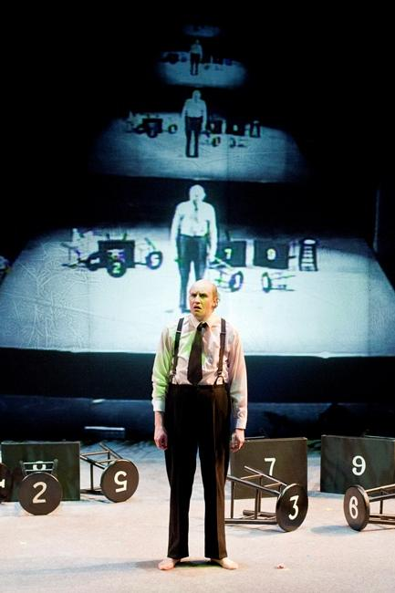 The 2013 production of 'Adding Machine,' as Mr. Zero (Michael Wyson) travels to the afterlife.