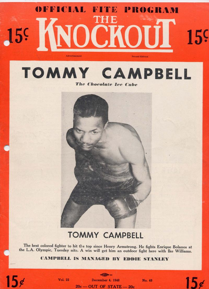 "Tommy Campbell was known as the ""Chocolate Ice Cube."""