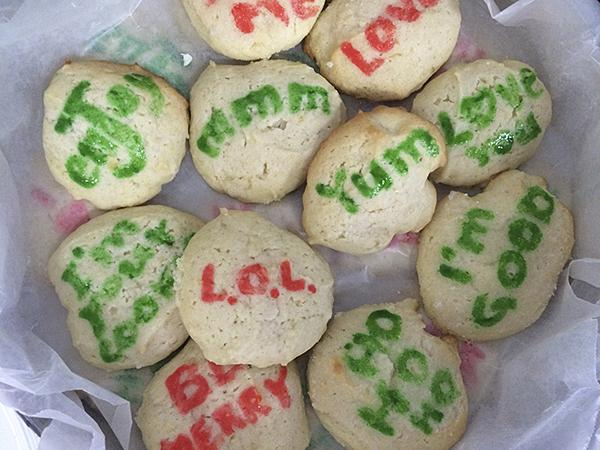 "Gail Cunningham worked in the editorial department at Hallmark and brought her Lemon ""editorial cookies."""