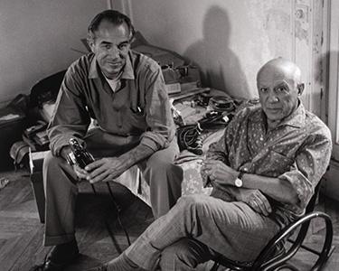 Gjon Mili, American (b. Albania, 1904–1984). David Douglas Duncan with Pablo Picasso, 1960.