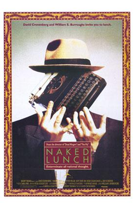 The film 'Naked Lunch,' based on William S. Burroughs' 1959 novel, will be screened at the Lawrence Arts Center.