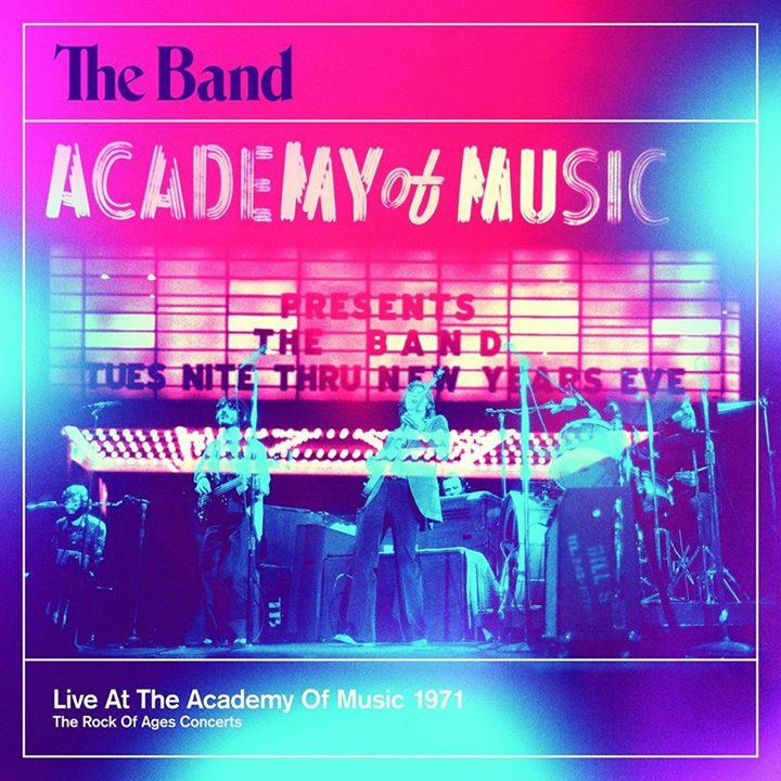 Album cover for The Band's 'Live at the Academy of Music 1971'