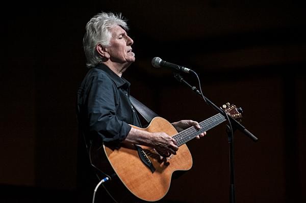 Graham Nash, of Crosby, Stills & Nash fame, sings a song after delivering the keynote address to a group of musicians assembled for the 2014 Folk Alliance International conference.
