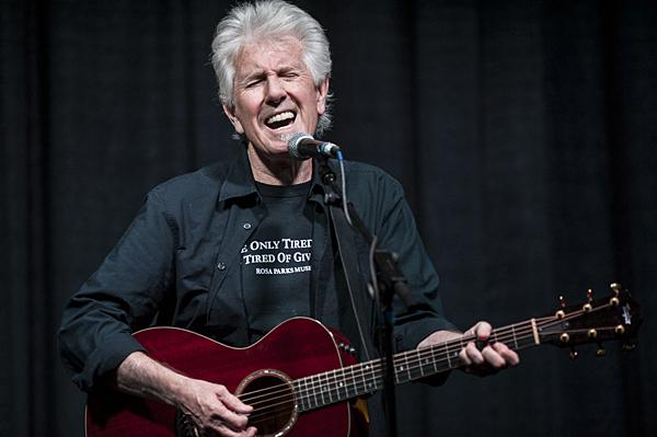 Nash sings 'Teach Your Children,' a song he wrote more than 40 years ago.