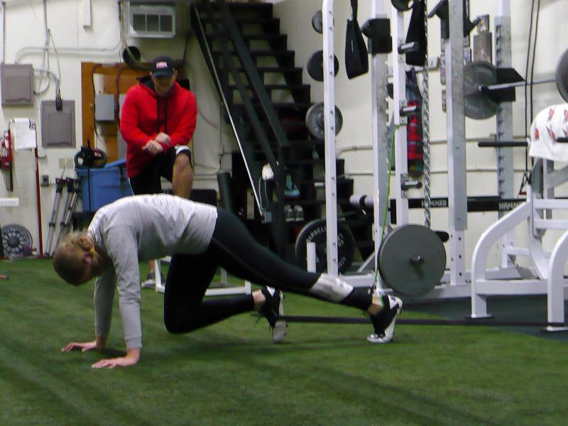 Sponsor and Coach Joseph Potts, at Top Speed Strength and Conditioning, is the main reason Nostrant is pursuing her off-season training in Lenexa, Kan. He was her coach in college.