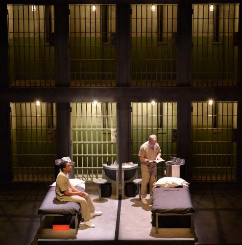 "Will Cobbs (as Damon Robinson) shares stories with the prisoner in the adjoining cell, Conan McCarty (as James ""Roach"" Teagle)."