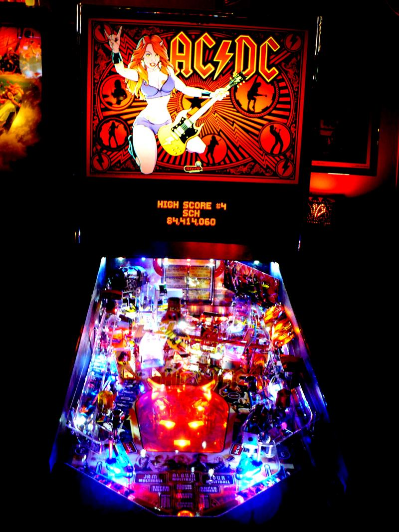 This 'Luci Edition AC/DC' pinball machine is one of the favorites played by competitors at 403 Club.