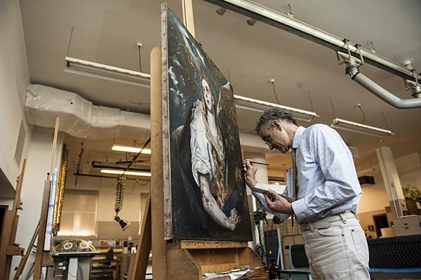 Heffley spent months studying El Greco's paintings in galleries abroad before undertaking the restoration.