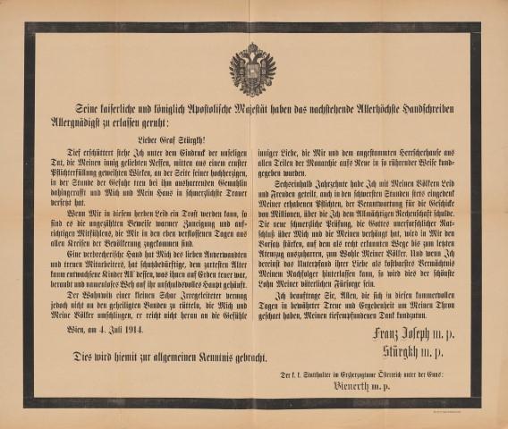 Franz Joseph proclamation