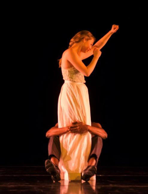 Dancer and choreographer Jane Gotch in a performance still from 'Let it Fall,' February 2014 at the Folly Theater