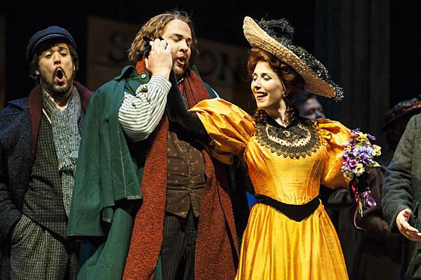 Dehn (Musetta) sends the bill to her elderly suitor and reunites with Marcello (Meachem) who is overcome with joy.
