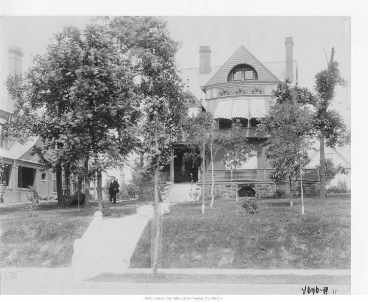 Mansions, like this one belonging to Flavel Tiffany, established Millionaire's Row on Troost between 26th and 32nd streets.