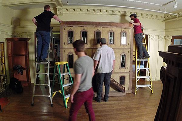 The stately Coleman dollhouse is taken apart to make way for renovations at The National Museum of Toys and Miniatures.