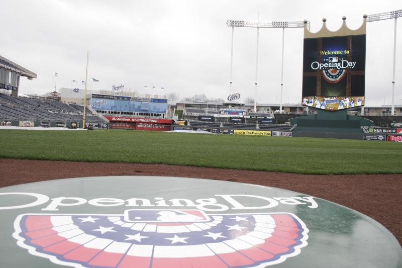 The Royals play the White Sox in their home opener at Kauffman Stadium.