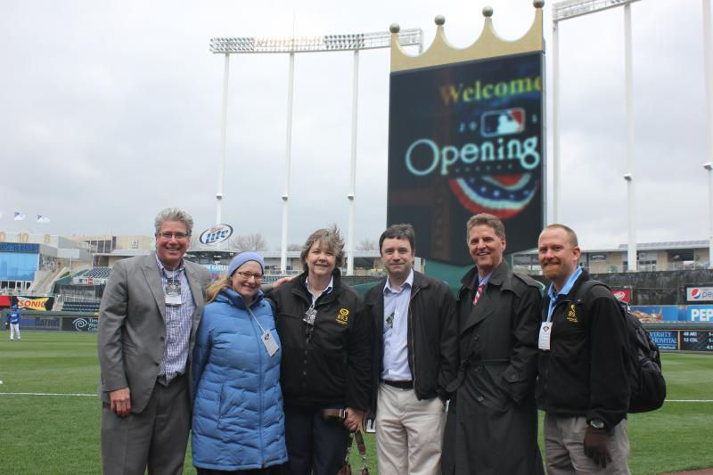 The Up to Date crew enjoys a chilly day at the K.