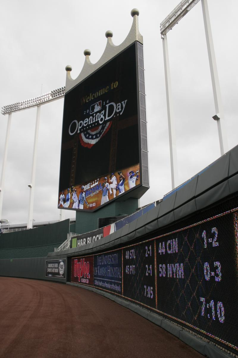 Everything in the stadium is prepped for Opening Day.