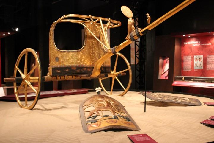 Tutankhamun's gilded chariot likely served as a state coach.
