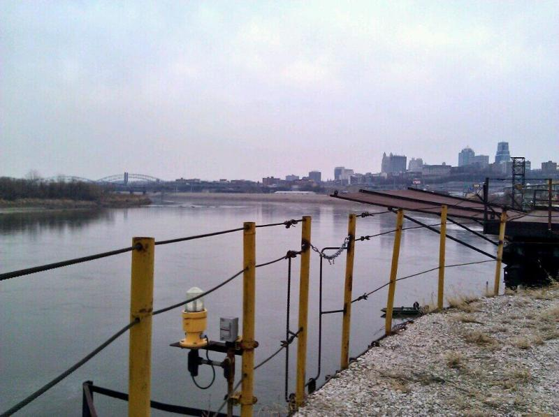The Port of Kansas City, at the confluence of the Kansas and Missouri Rivers, has been closed since 2007.