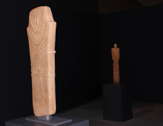 This stelae of a human figure dates from the 4th millenium BCE. It's thought to have been used in religious or burial practices.
