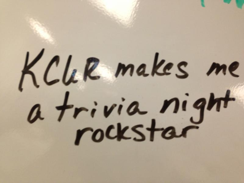 We asked pledge drive volunteers why they power KCUR all week on a white board in our green room.
