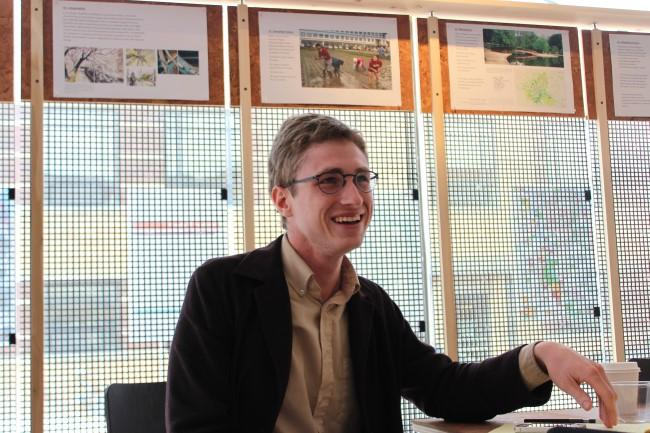 Writer Kent Szlauderbach is the co-director of Front/Space, a gallery and work-live space in the Crossroads. As part of an exhibition series, the student maps were on display in April.