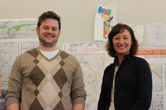 UMKC students Sean Partain and Karie Kneller spent the semester on a project focused on vacant land.