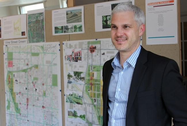 "According to associate professor Jacob Wagner, ""Most cities and city agencies deal with vacancy on a one lot at a time approach."" He asked students to take a systemic approach."