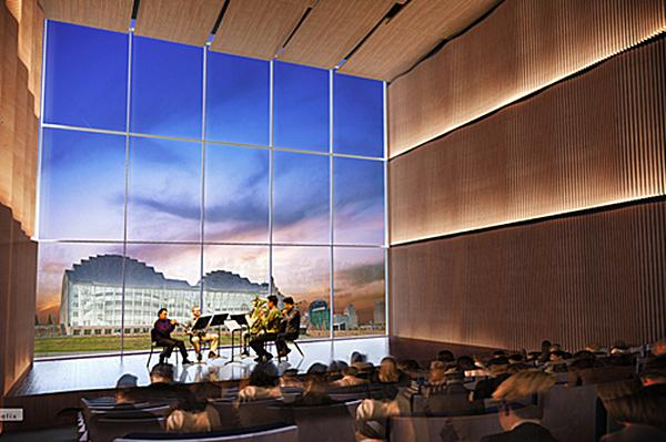 An artist rendering of the future home of the UMKC Downtown Arts Campus.
