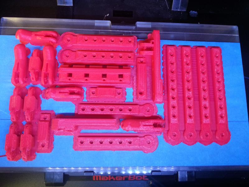 The 3-D printer at the Johnson County Library has been used to print the parts needed to build a prosthetic hand.