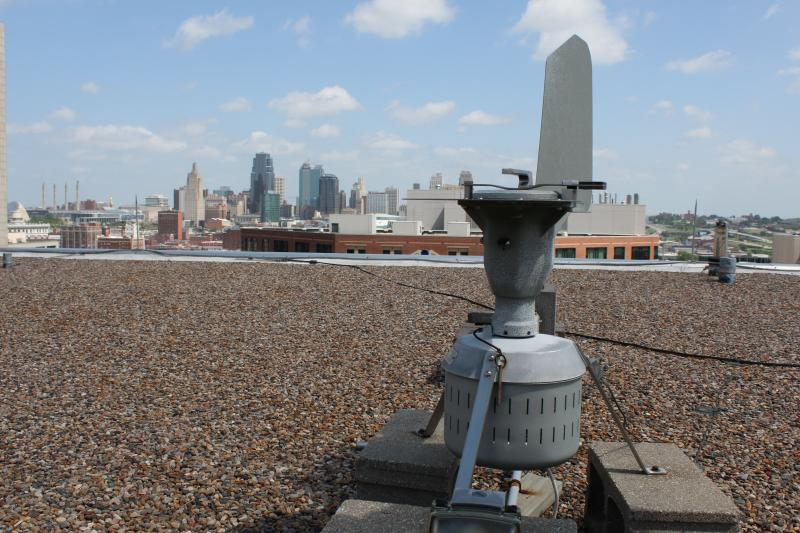 This small spore trap on the roof of Children's Mercy Hospital collects enough pollen to produce accurate counts for the entire metro area.
