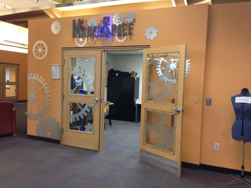 The Maker Space opened about a year ago and houses the library's latest gadgets including two 3-D printers.