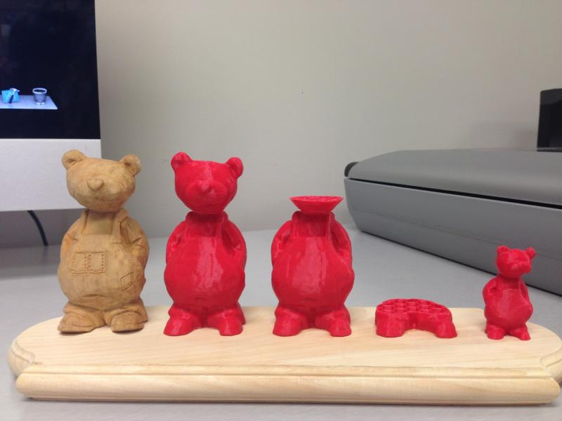 One patron created a series of bears after an original wooden model.