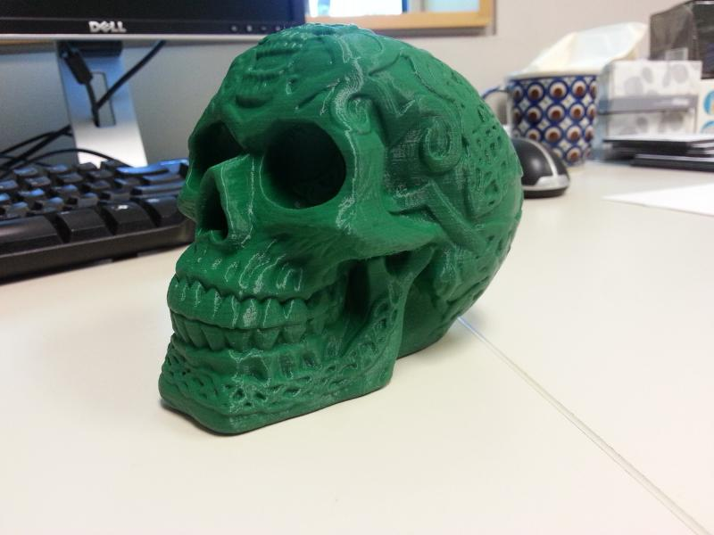One Johnson County Library patron printed a skull.