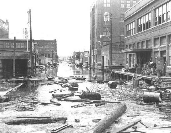 The Great Flood of 1951 caused over $1 billion (nearly $9 billion in today's dollars) in damages and completely vacated Kansas City's West Bottoms.