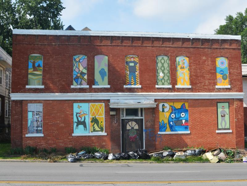Three years ago, artists and community members painted the boarded-up windows and doors at 3512 Independence Ave. in the Historic Northeast.