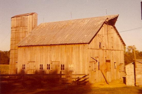 This photo of a dairy barn near Smithton, Mo., was taken in the 1960s.