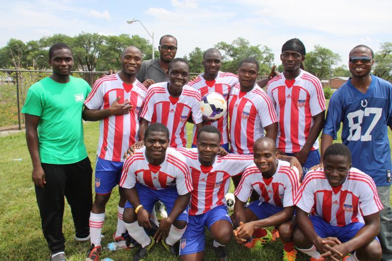 The Liberian community has a robust soccer team.