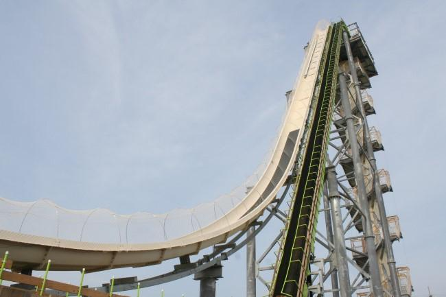 Verrückt, the world's tallest water slide, is 17 stories high.