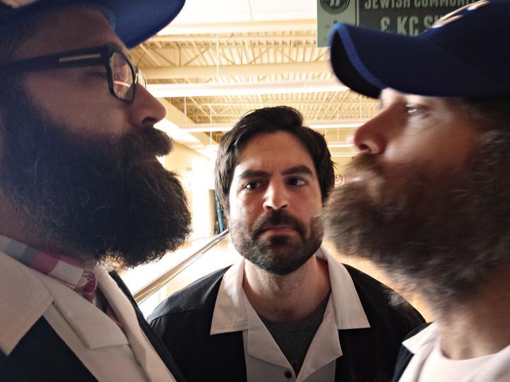 """Here's a photo of @kcmmurphy having a 'beard off' with Will Forte at this year's @BigSlickKC."""