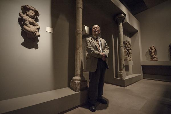 "Henry J. (""Hank"") Raya, 82, watches over the museum's collection of South and Southeast Asian art Friday at The Nelson-Atkins Museum of Art."