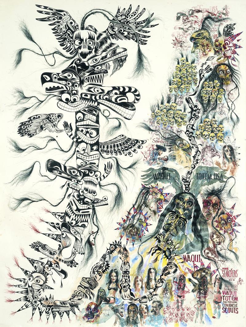 "Brad Kahlhamer's ""Waqui Totem USA"""