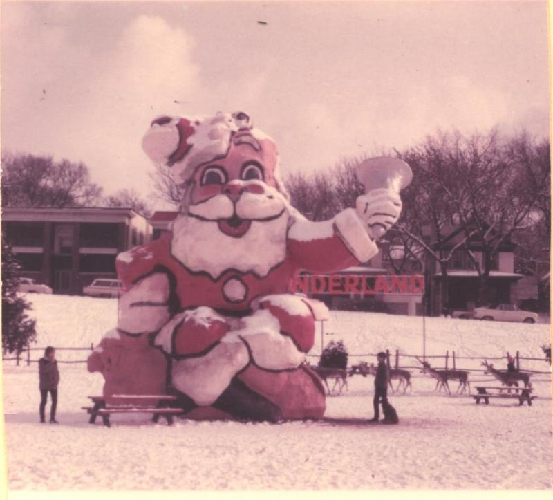 The Santa Claus slide, part of the Gilham Park Santa's Wonderland was another Vernon Jones' cherished handmade creations.
