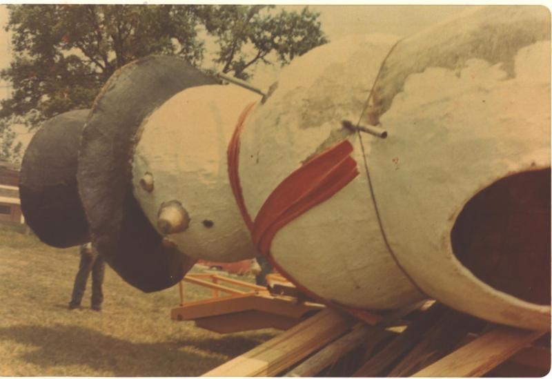 Vernon Jones also made the fiberglass creatures at Santa's Wonderland in Gillham Park in Kansas City, Mo.