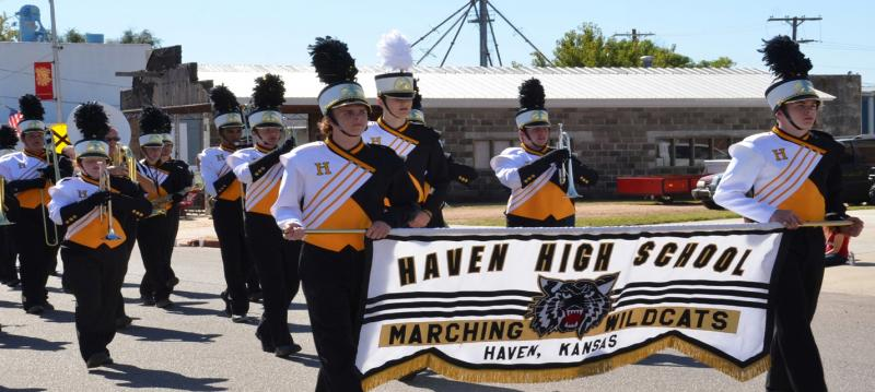 The Haven High School band has recieved the superior rating of 1+ at the Kansas State Fair marching band competion for nearly 25 years.
